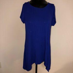 oversized blue shirt